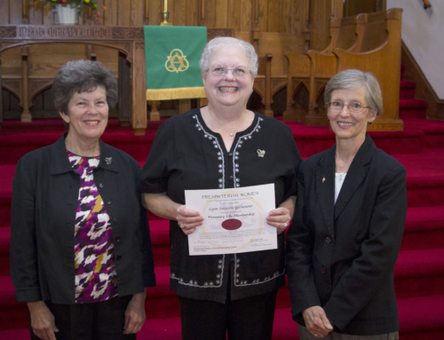 Sue Gochenour Awarded Presbyterian Women Honorary Life Membership
