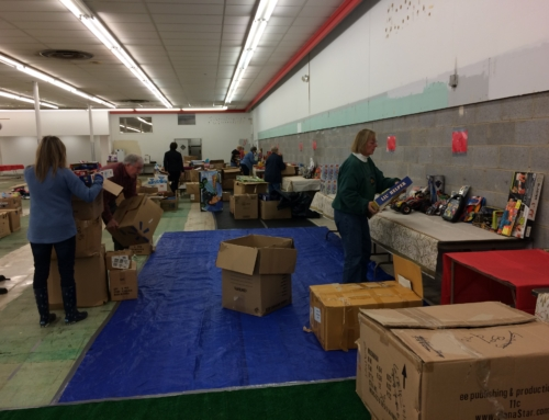 Setting Up the Salvation Army Toy Store