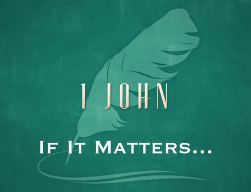 If It Matters…